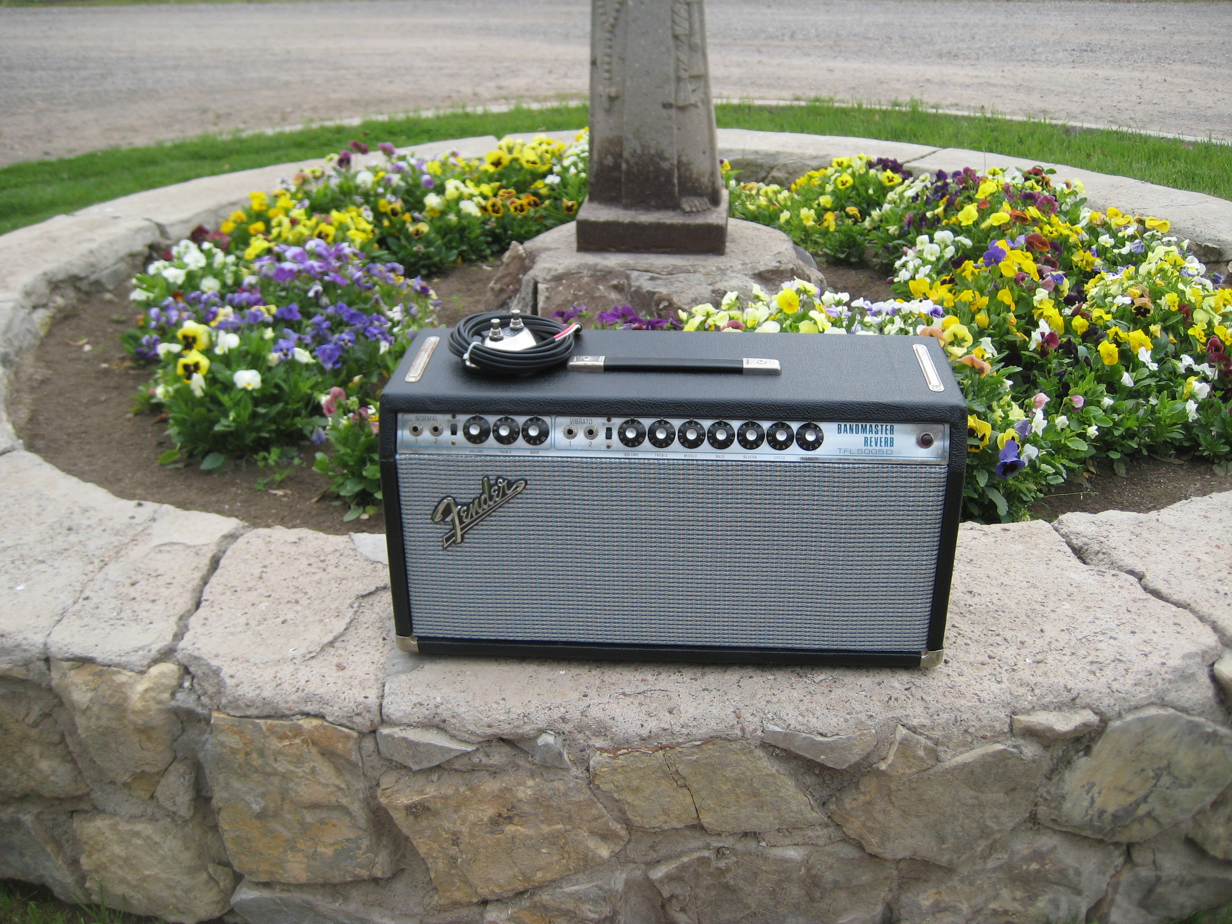 This Bandmaster Reverb belonged to a customer's grandfather. It was in really rough shape with the cab falling apart. It took lots of TLC to restore but it was well worth it. Great amp!