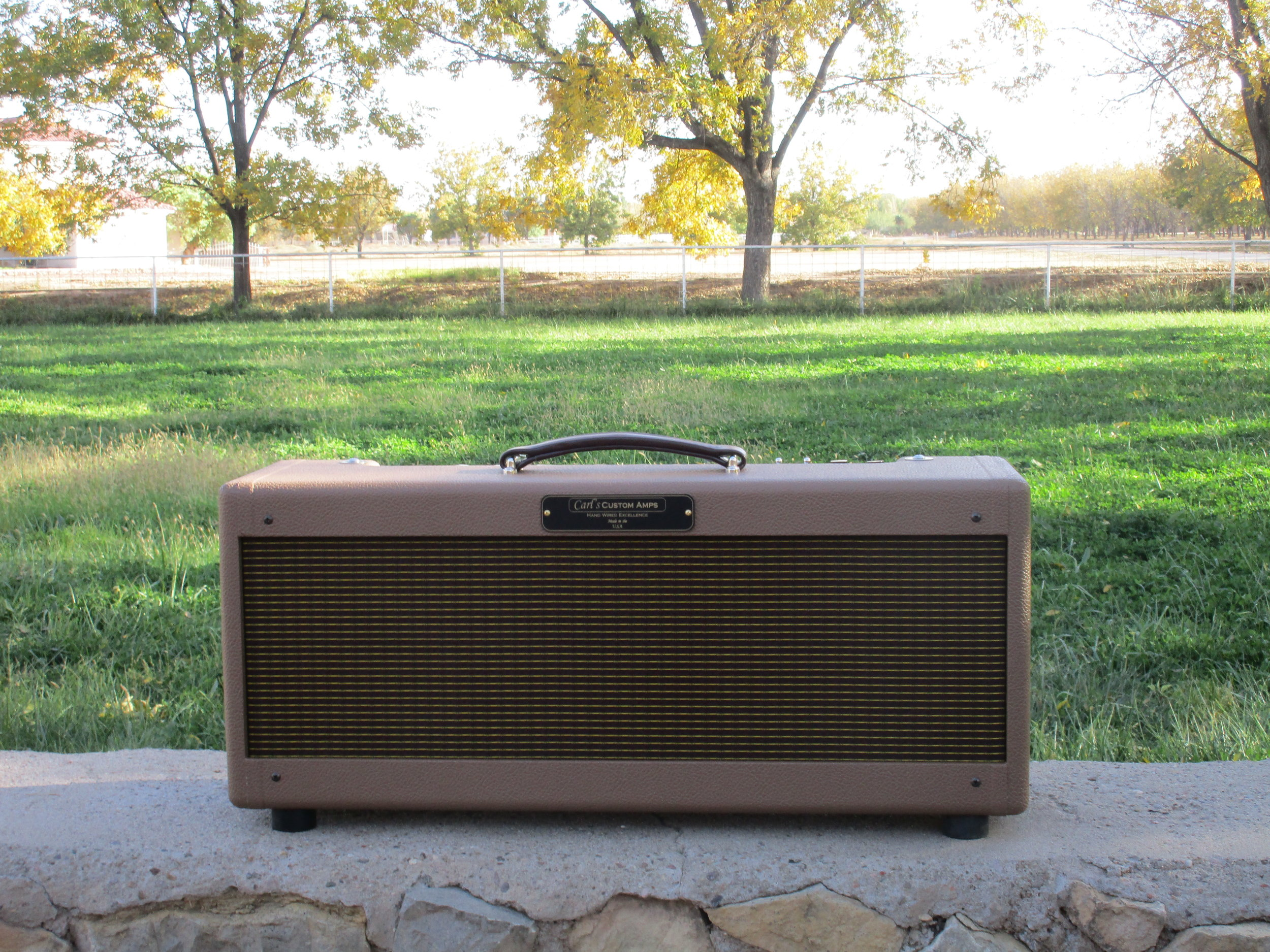 CPC-80T Tweed Twin Head in smooth brown tolex by request!