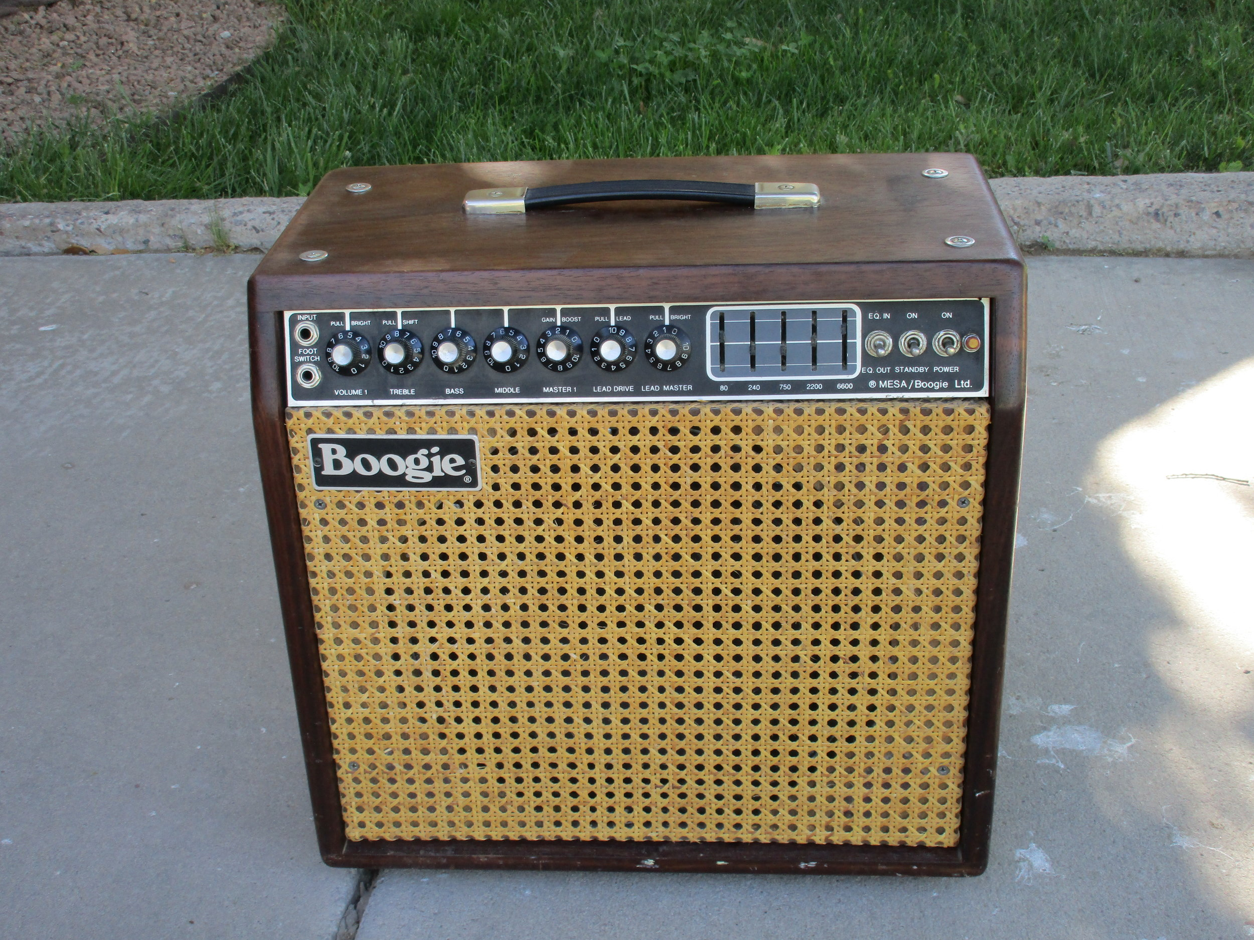 I restored this Mesa Boogie Mark II B. It's an interesting amp and gets that Santana kind of sound as well as Fenderish cleans. The Electro-Voice speaker serves up great sound and can double as a boat anchor. It's certainly it's one of Mesa's better models. It's ridiculously compact and difficult to service due to it's construction.