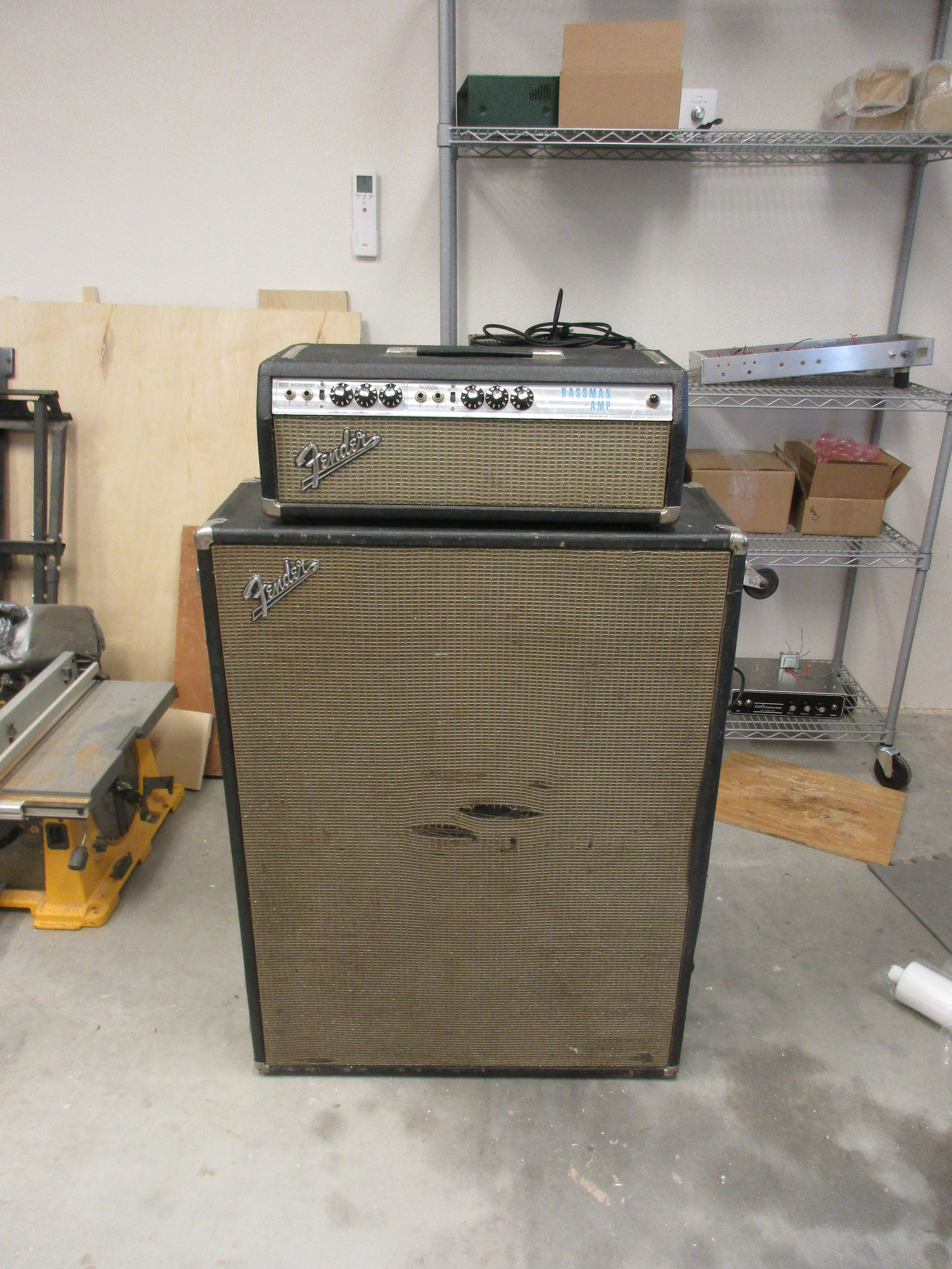 I restored and modded the electronics on this 70's Silverface Bassman with he original 2x15 Cab. It had the dreaded transitional Silverface Bassman circuit that Fender quickly abandoned since sound so bad. I modded it to 60's Blackface specsand she sounds sweet!