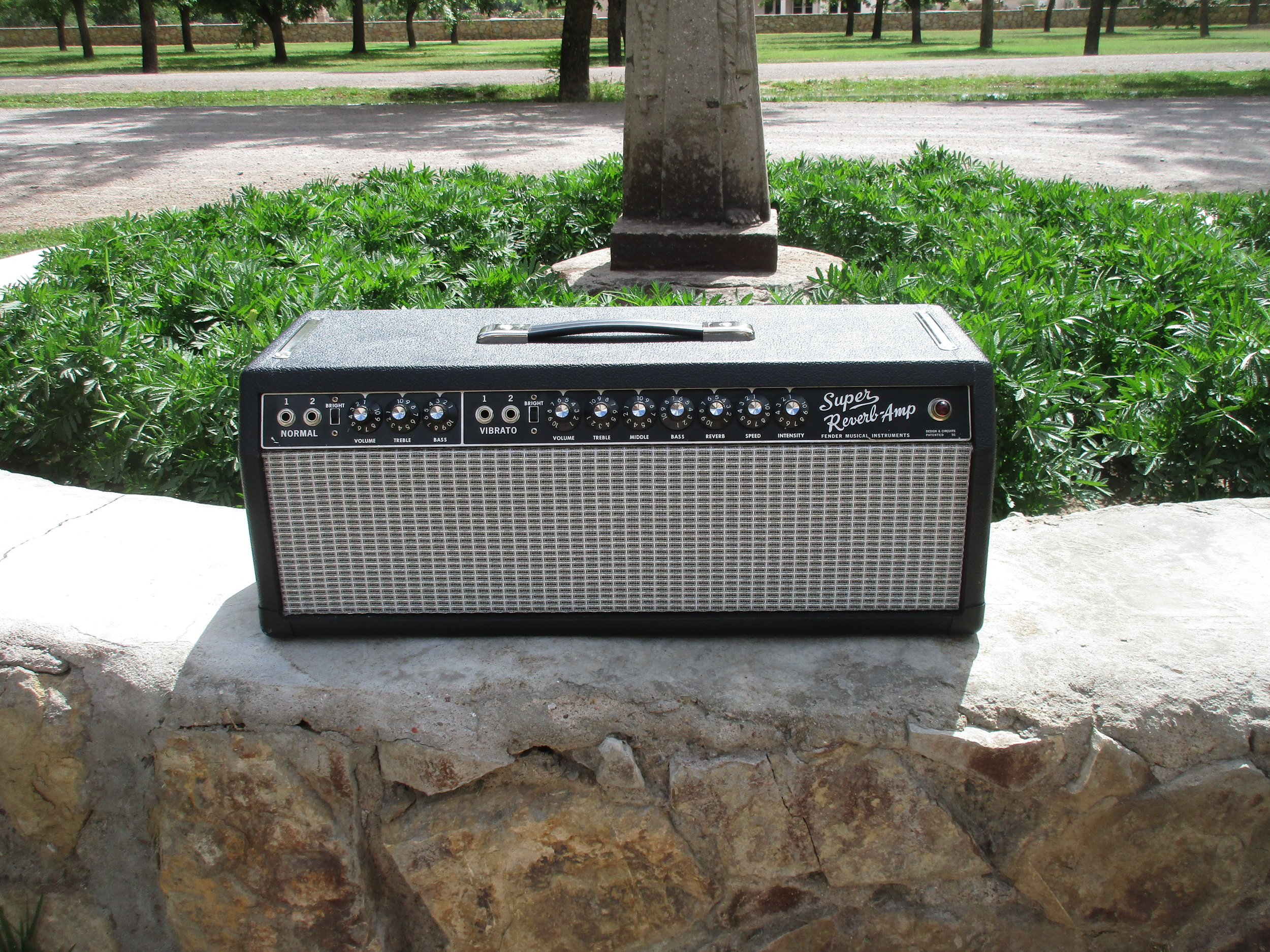 """This 1966 Fender Super Reverb had been put into a head case but came in with low power and noise problems. It took some extensive electronics restoration but now it sounds great. The owner wrote me after getting it back:  """"Carl,  I am blown away over what I am hearing coming out of my amp. You have more than surpassed my expectations— the tone is outstanding! Jangly, crisp, full, harmonically rich and ear pleasing are some of my initial perceptions.You have transformed my mediocre sounding Super Reverb into something above any amp I have ever heard in this style and beyond.  Thank You so much!  This did not cost much and the results are literally to die for.  Loyal customer forever.  John"""""""