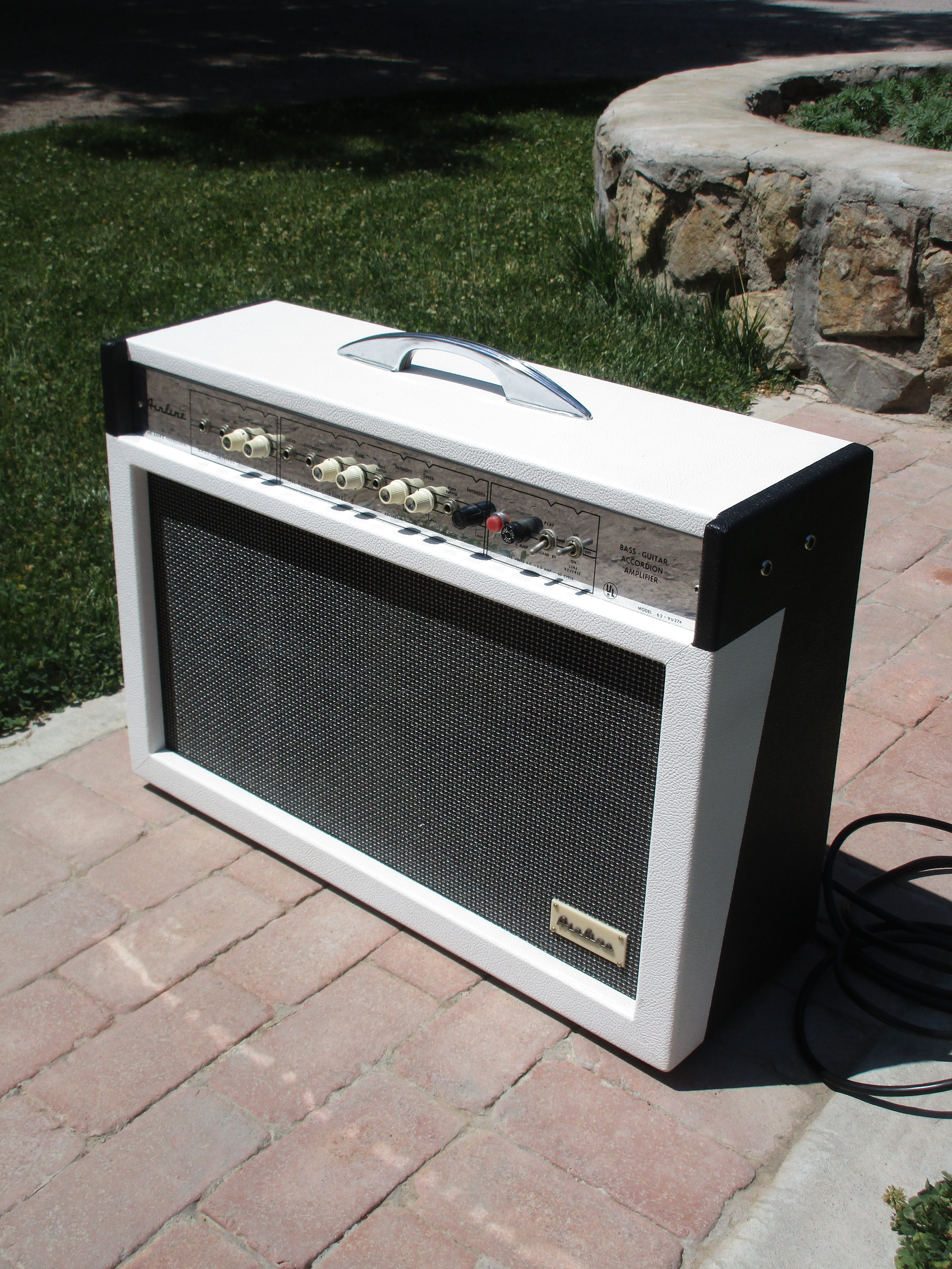 Here's cool old Airline amp I restored to health. It was really tough amp to work on and has a lot of inherent flaws in the design. Looks cool though!