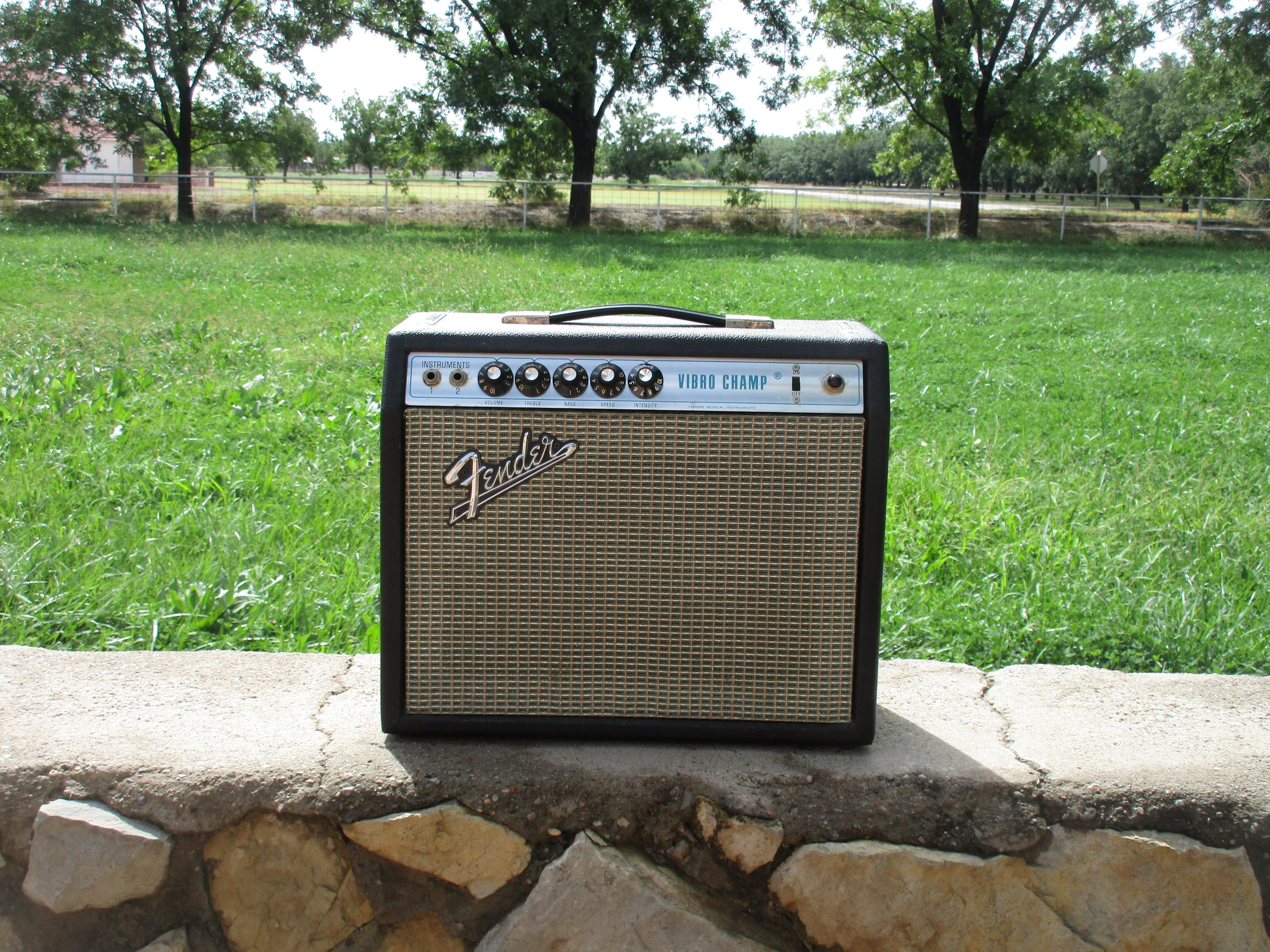 This Silverface Vibro-Champ came in and I did a bunch of little tweaks, replaced the speaker and added a load box for a line out. It sounds great now!