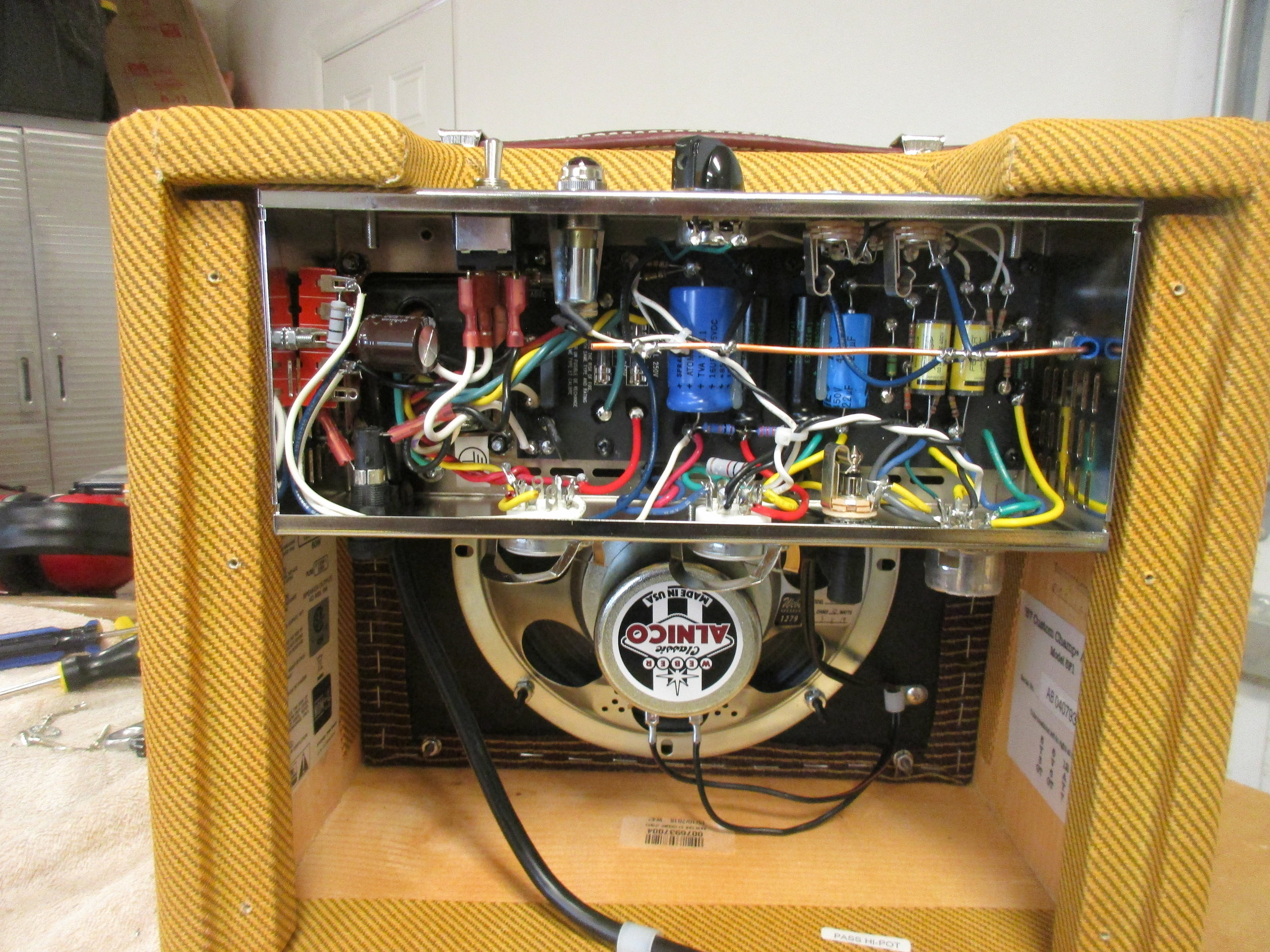 Mods for Fender 57' Tweed Champ Re-issue — Carl's Custom Amps