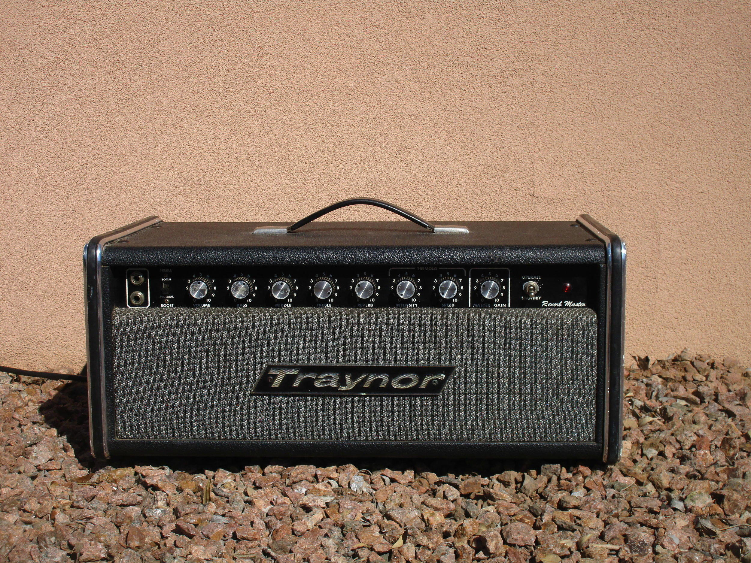 Here's a cool vintage Traynor Reverb Master. It's kind of Traynor's version of the Fender Blackface series. After new caps, some new tubes, and an adjustable bias system installed it sounds great!