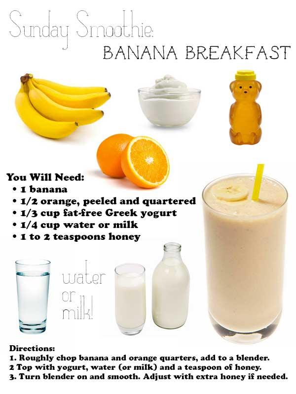 sundaysmoothie-bananabreakfast