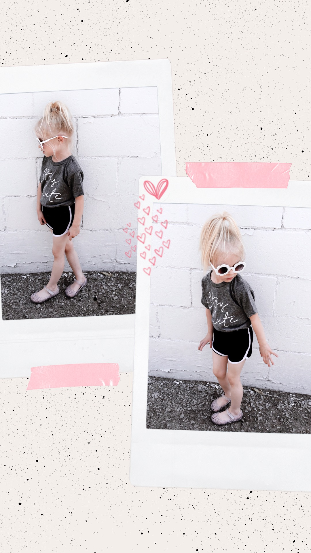 Stay Cute toddler tee grey