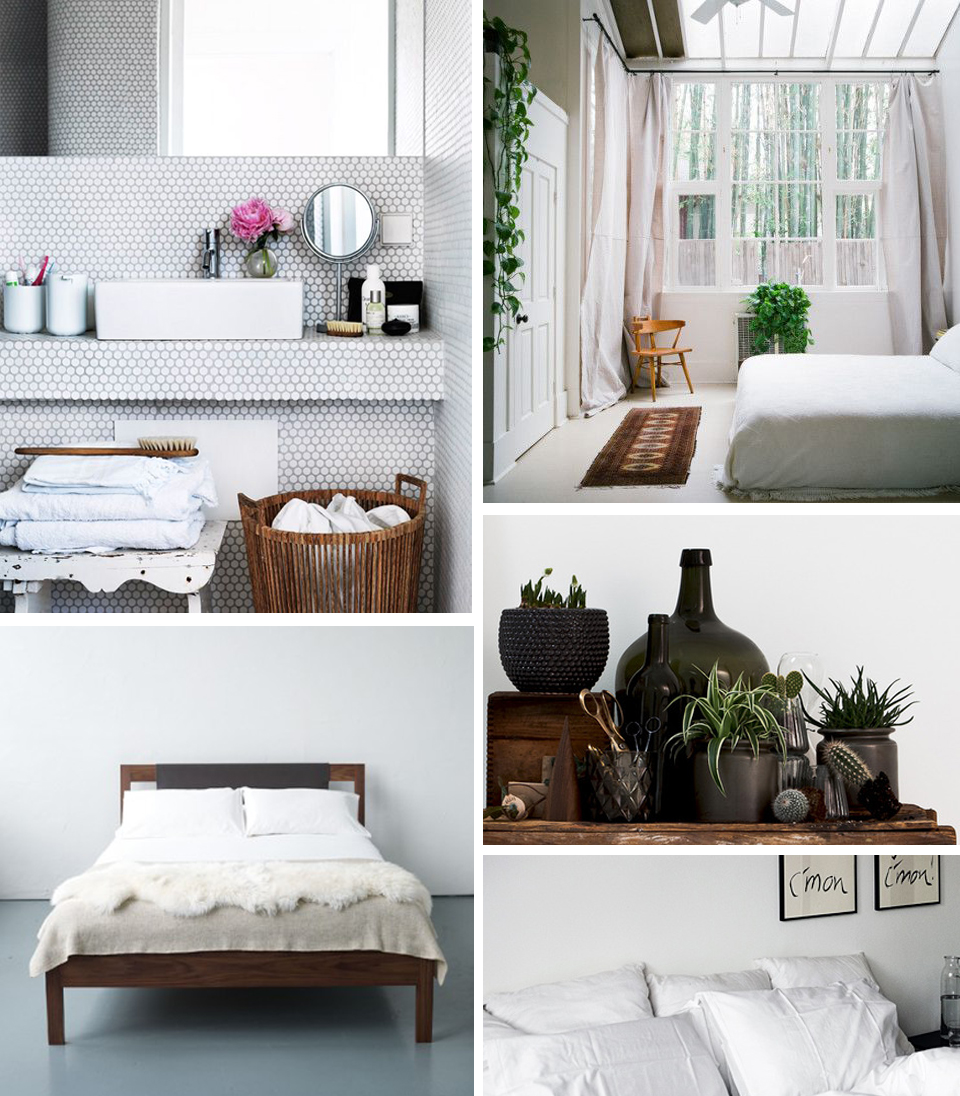 Images found here:  Bathroom  /  Windows  /  Plants  /  Bed Frame  /  Bedding .
