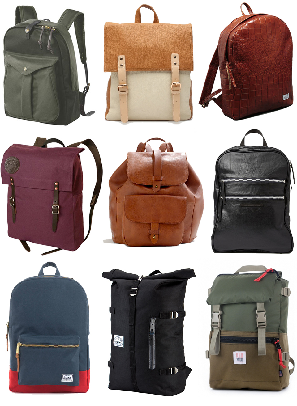 Filson  /  Rockland  /  Draught Dry Goods  /  Duluth  /  Madewell  /  Marc by Marc Jacobs  /  Herschel  /  Poler  /  Topo