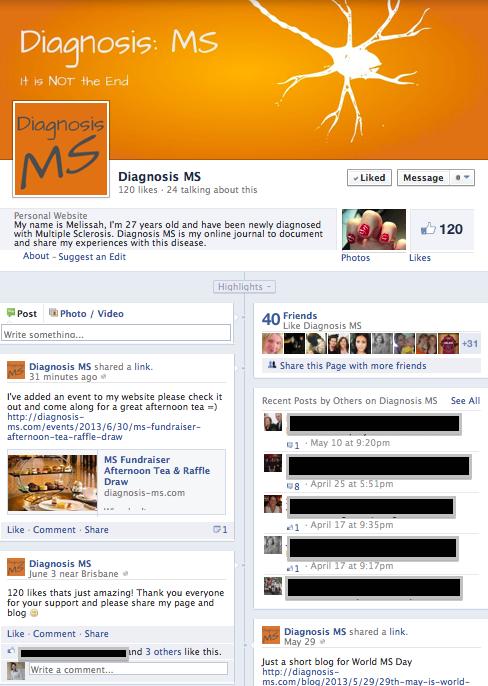 Diagnosis MS Facebook Page