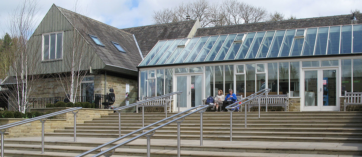 Ourgutter on this conservatory is a great example of a single, continuous piece of aluminium guttering; not achievable with any other material.   Location: RHS Harlow Carr, Harrogate