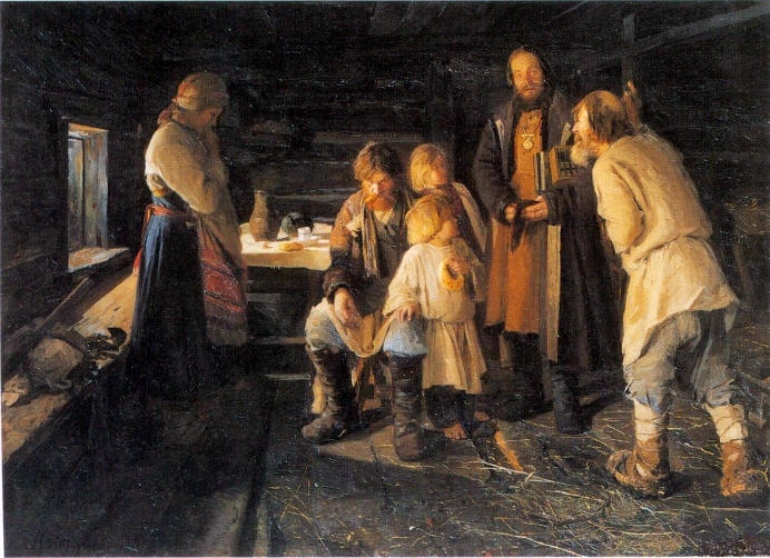 """Die Steuern"" von Nikolai Vasilevich Orlov [Public domain], via  Wikimedia Commons"