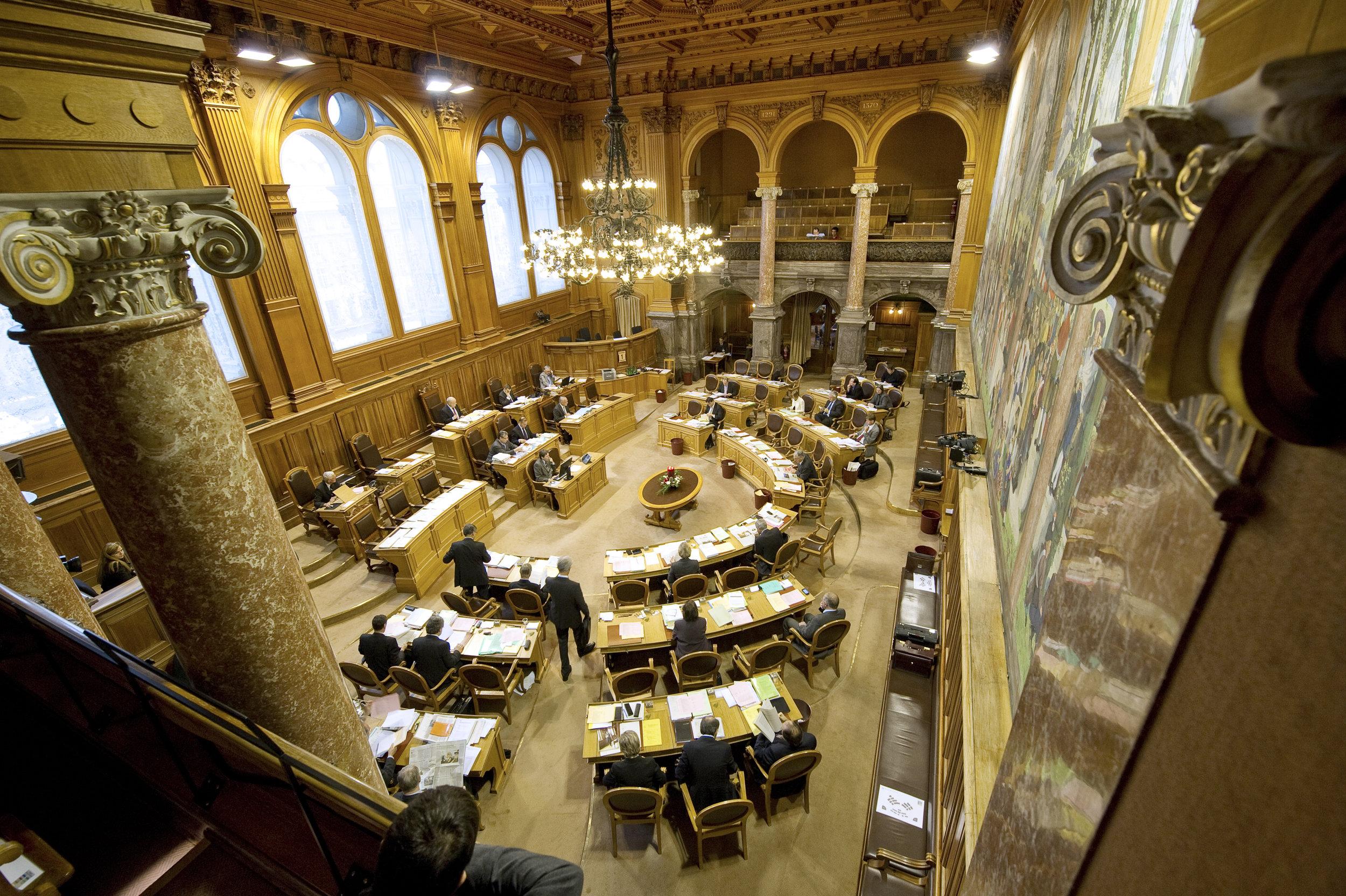 Foto  Ständeratssaal , Copyright: Parlamentsdienste 3003 Bern