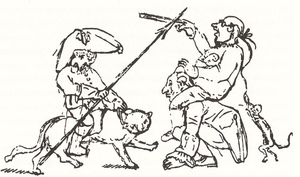 Bild: E.T.A. Hoffmann kämpft gegen die Bürokratie, via  Wikimedia Commons