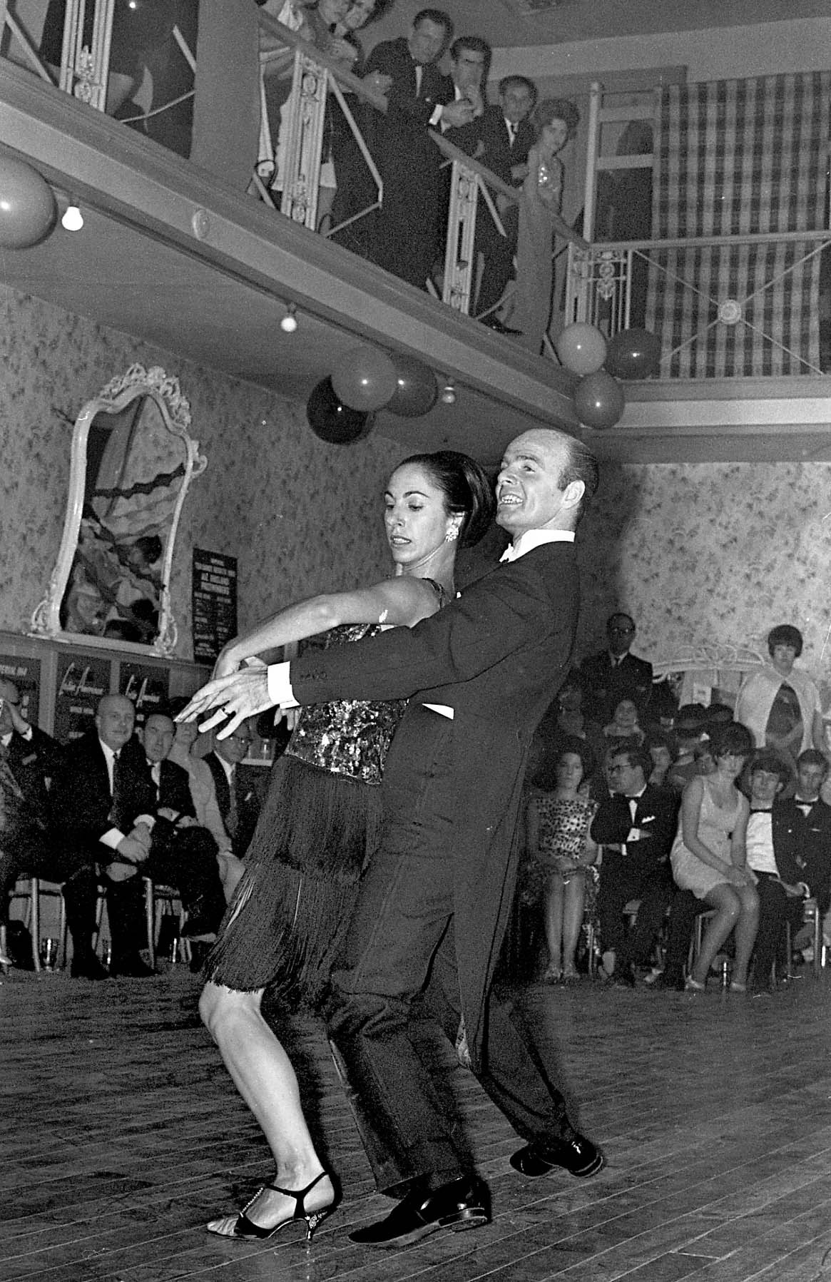 Ballroom dancing at the Arlington Ballroom in January 1968. The original Victorian balcony is in the background.