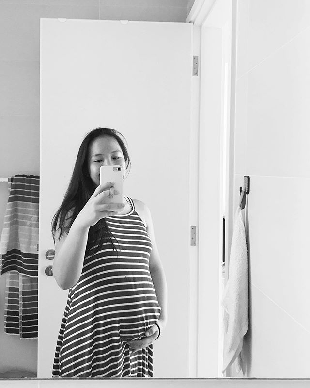 22 weeks growing this little baby BOY. ❤️🙌🏼😍