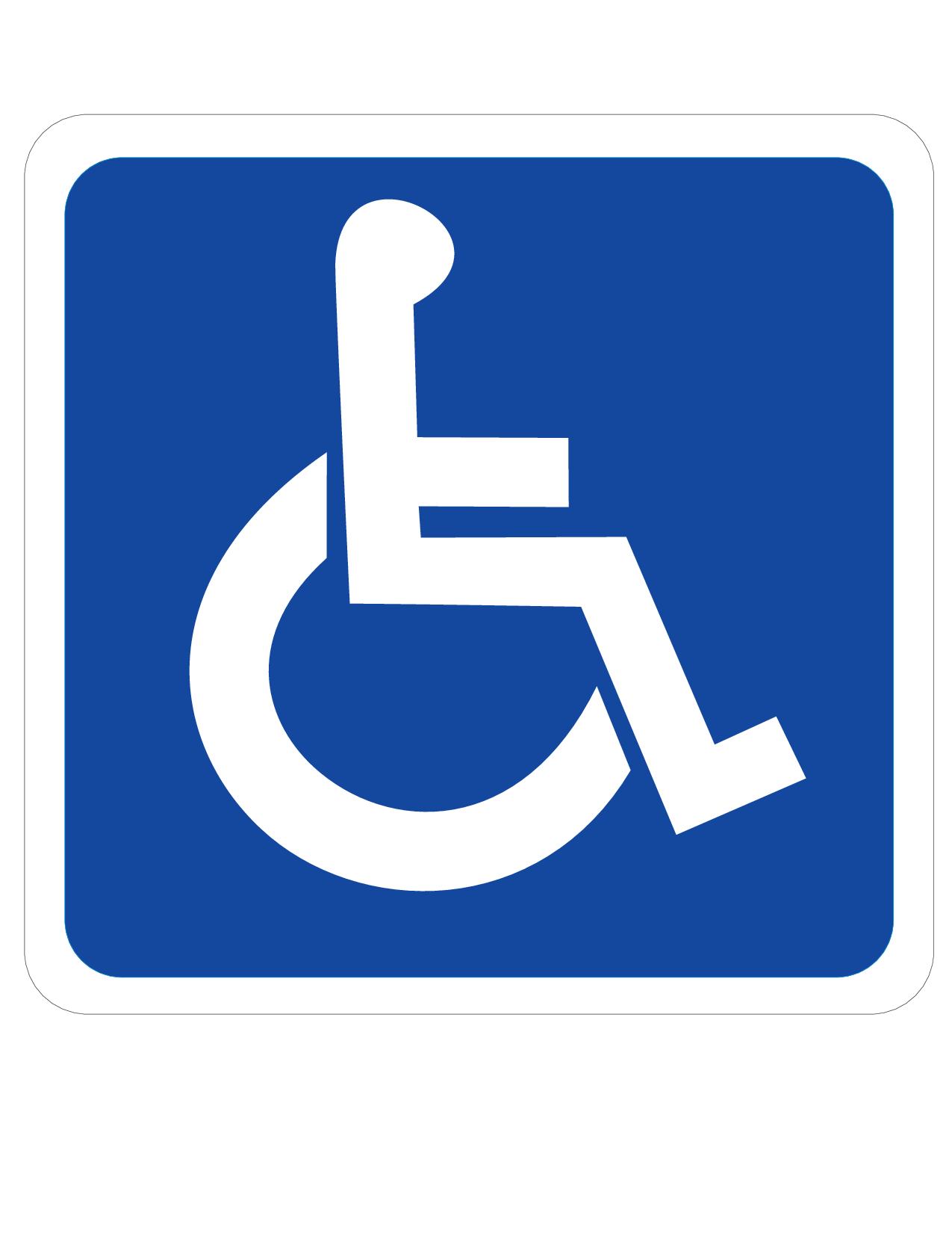 Handicap entrance at back of building.