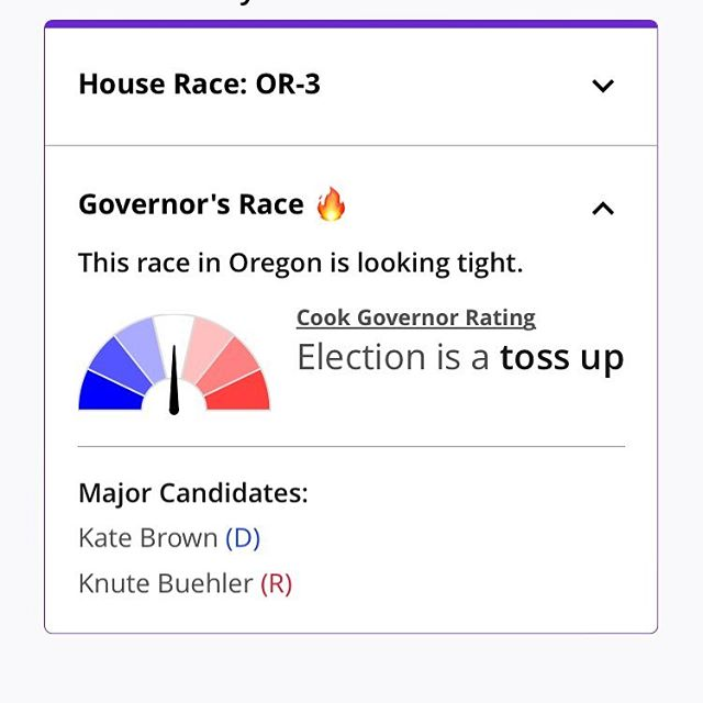 "Hello again. It's almost impossible to believe I'm saying this but, a week out, Oregon is living through '16, just at a state level. The unimaginable is upon us: the false promise of ""he's a moderate"" and ""he's not so bad."" Please get out and vote for #teamkate. We have so much work to do in Oregon in the coming years. So much to build and so many vulnerable neighbors to care for and protect. Link in my bio for where you can find me the next week to #gotv"