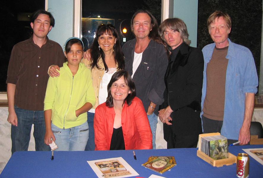 Jeannette & Sheila with Kevin Welch, Kieran Kane & Fats Kaplan, with Jeannette`s niece Kelsey & Kieran`s son.