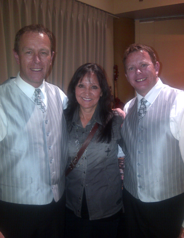 Jeannette with the Spinney Brothers, Alan & Rick