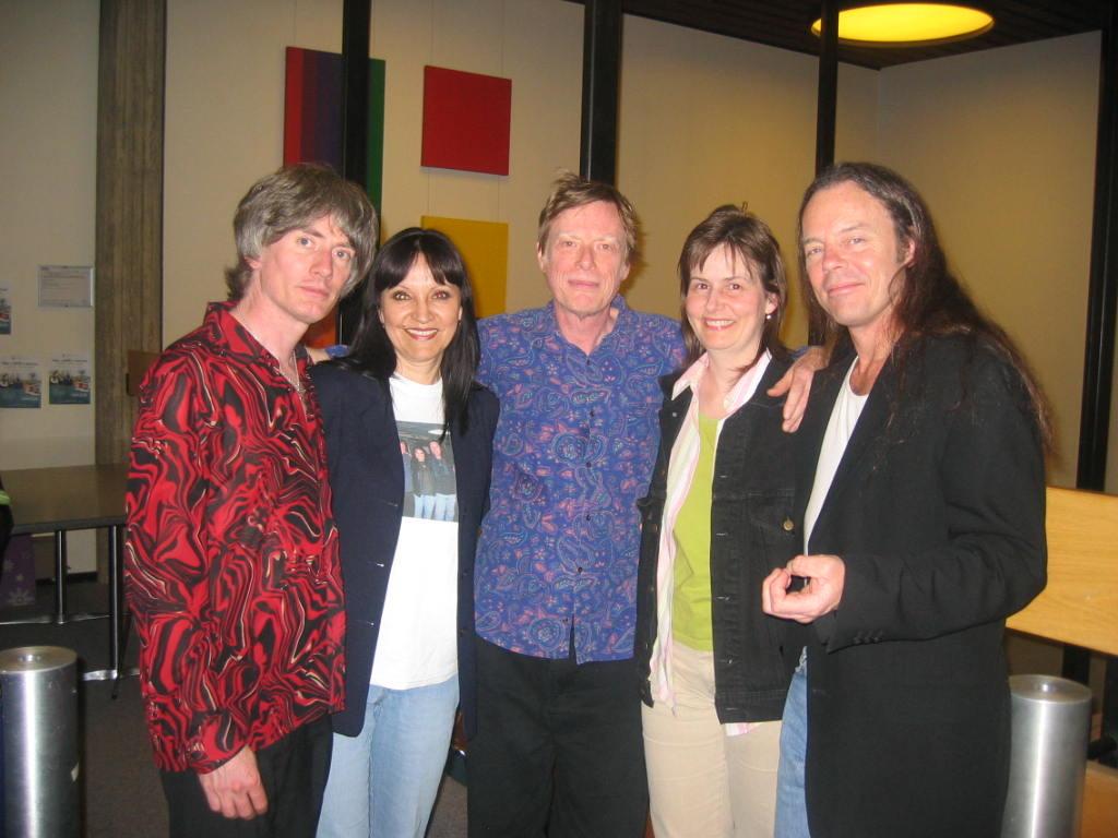 Jeannette & Sheila with Fats Kaplan, Kieran Kane, & Kevin Welch  August 20, 2008