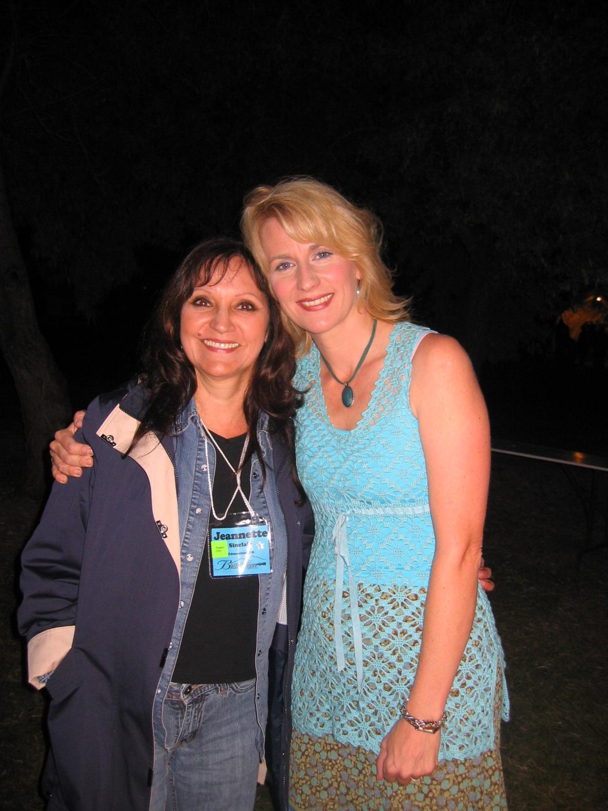 Jeannette with Sally Jones August 19, 2008