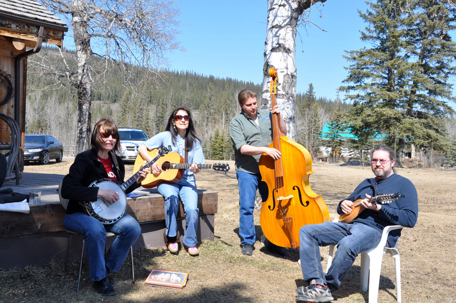 Prairie Sky hanging out at Entrance Ranch in Hinton, Alberta April 24, 2011