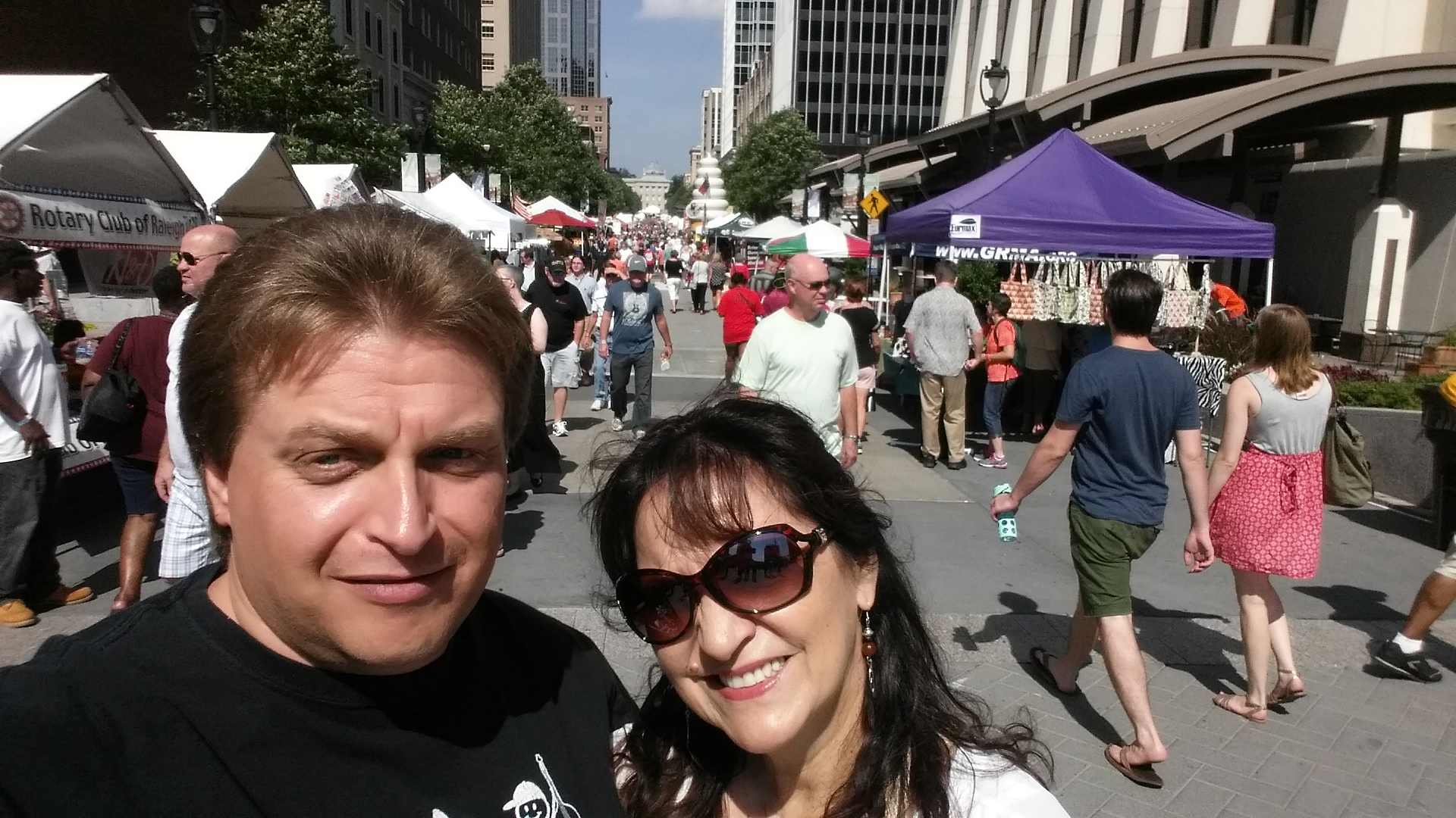 Kenny & Jeannette at IBMA Streetfest Raleigh NC October 2014
