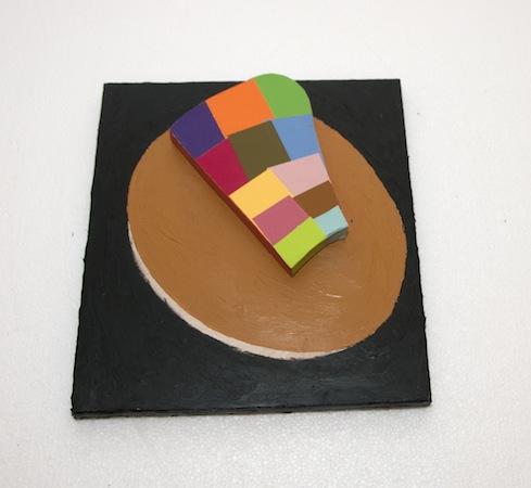 Tic , 2014 paint, wood, coloraid