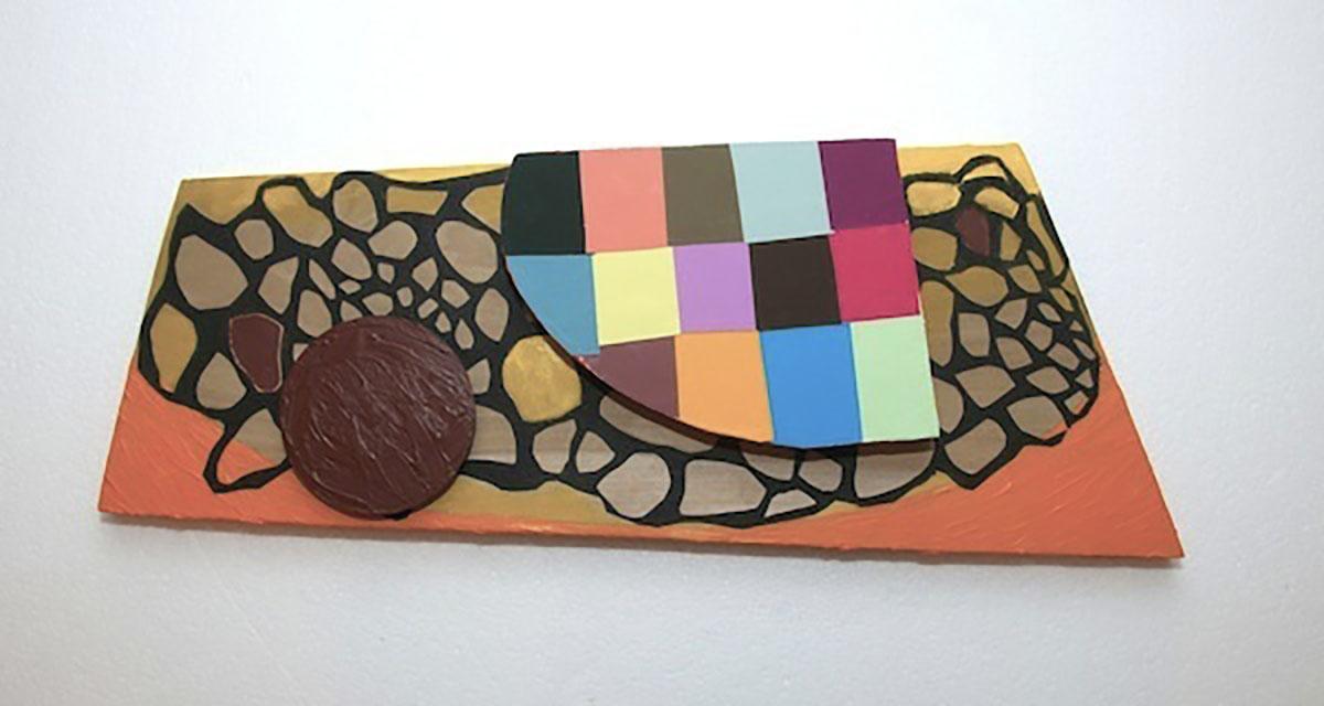 Blitz,  2014 Wood, paint, colored, plastic, tarpaper