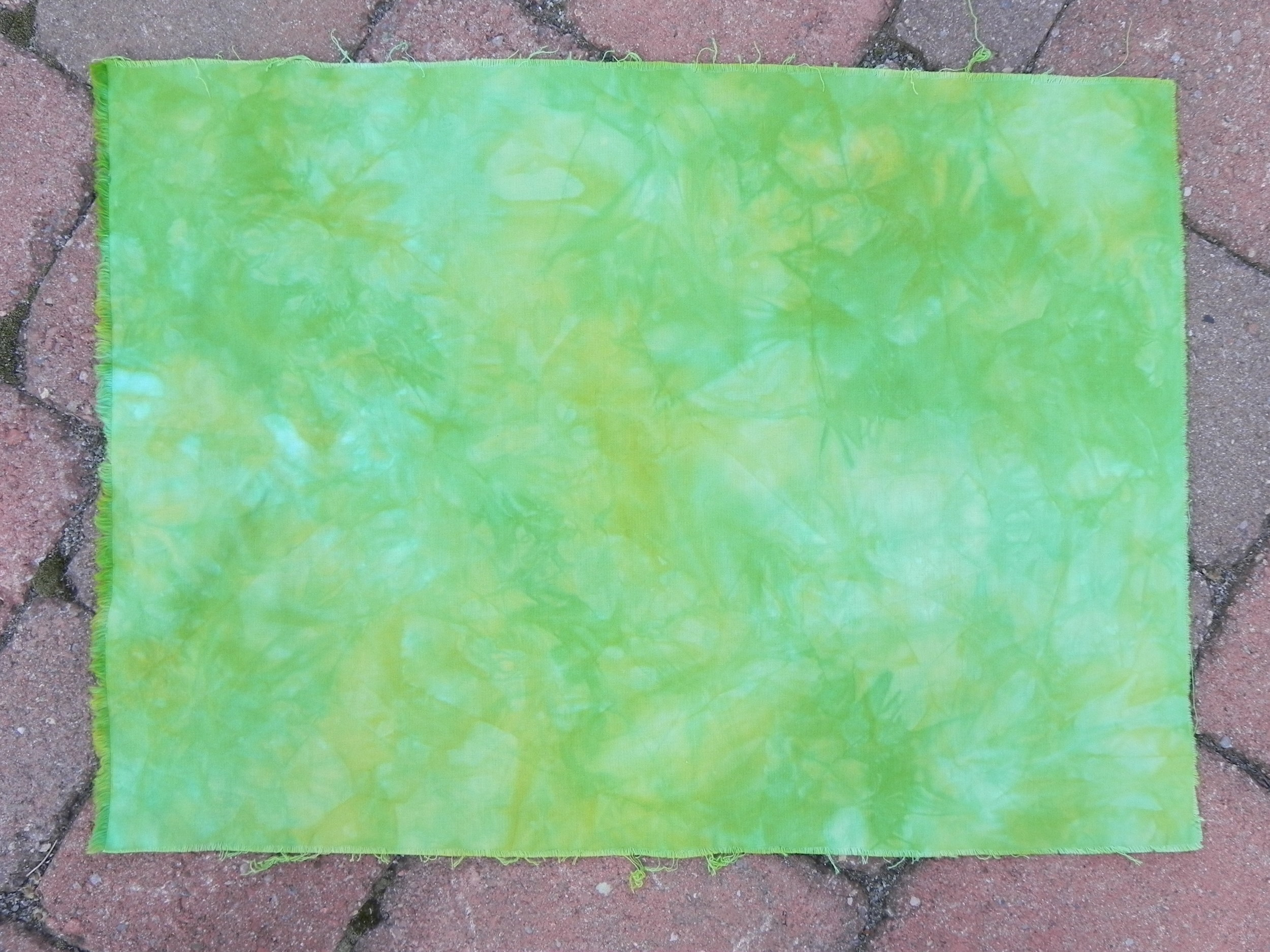 "Yellow-Green Snow Dye ""After"""