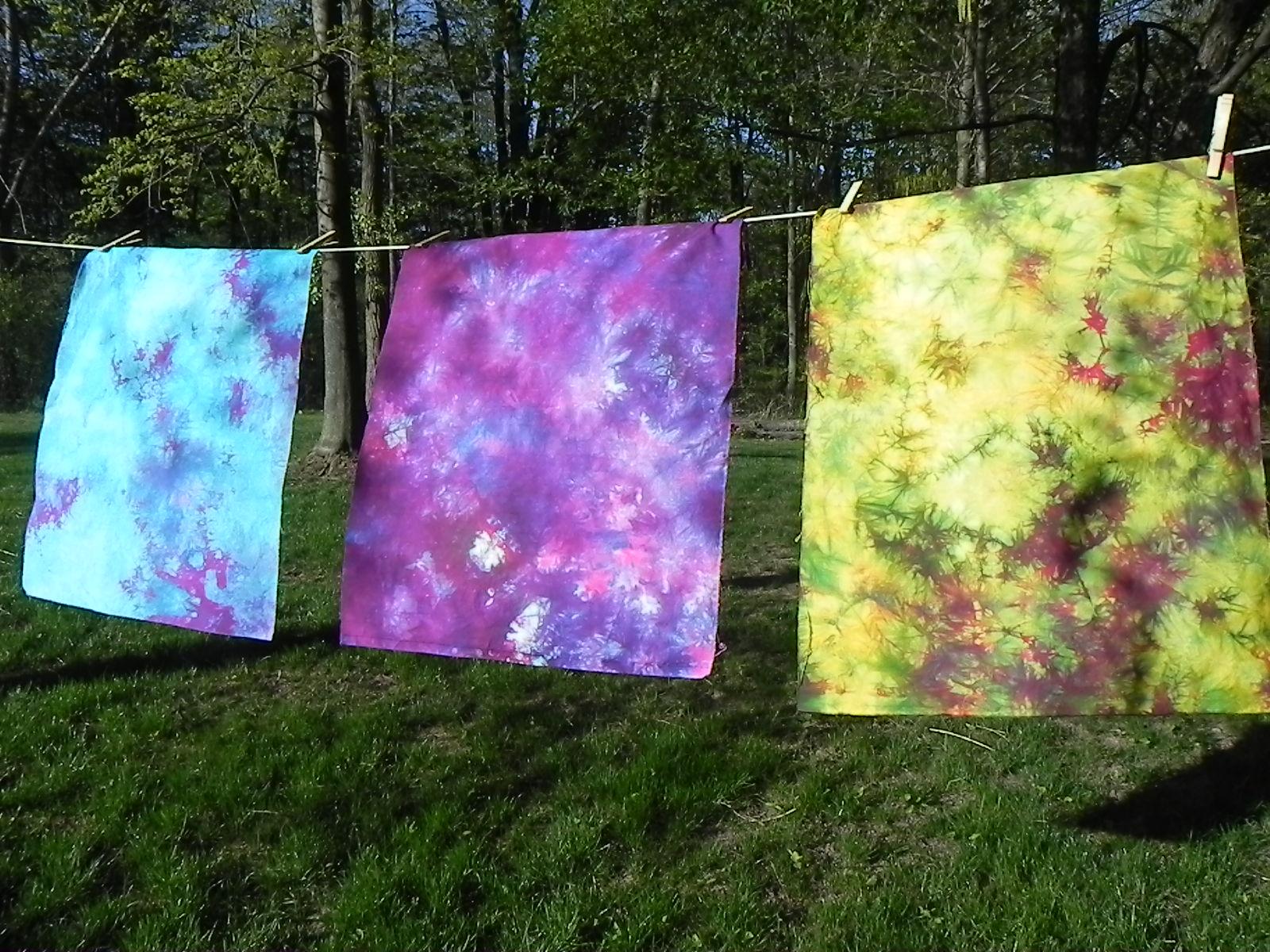Color Parfait #1: Fabric #1 (on bottom): Turquoise. Fabric #2 (middle): Fushia. Fabric #3 (on top): Sunny Yellow