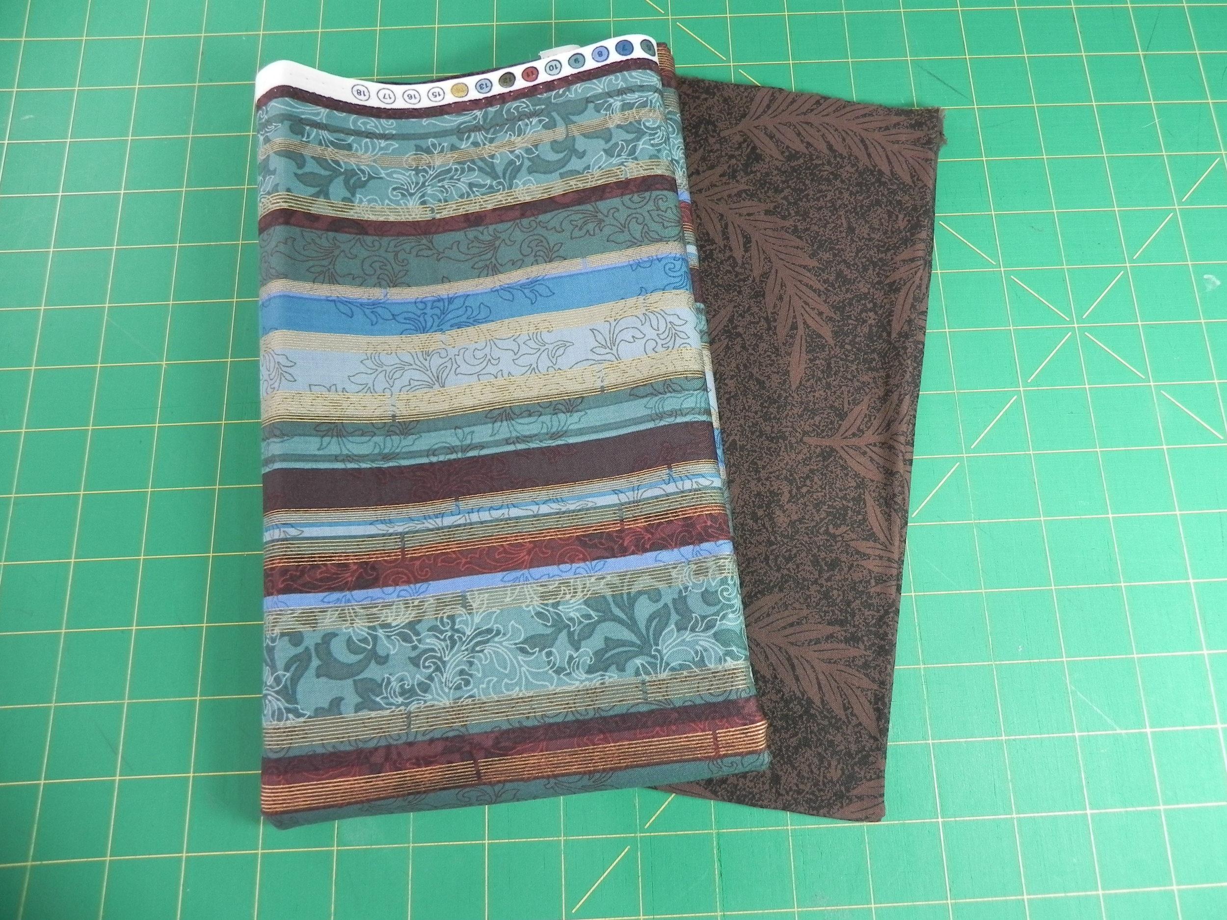 Prize #1: 1 1/2 yds stripe, 1/2 yd brown