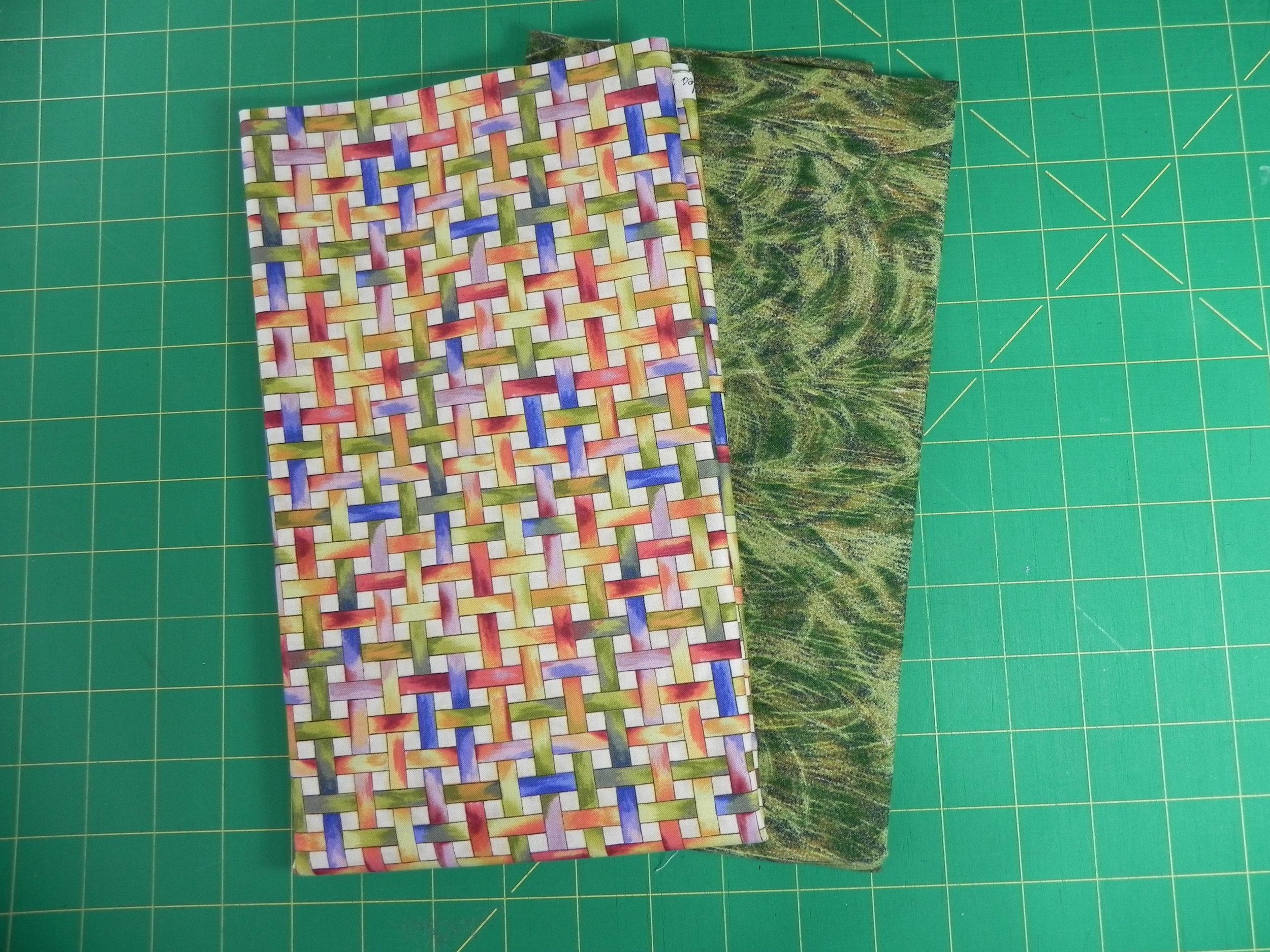 Prize 4: 1 yard weave design, 1 yard green