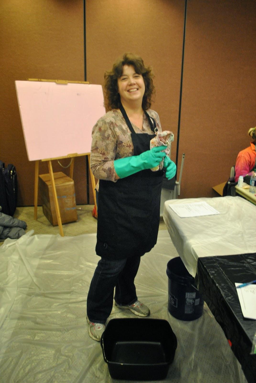Mad Quilt Scientist in her element!