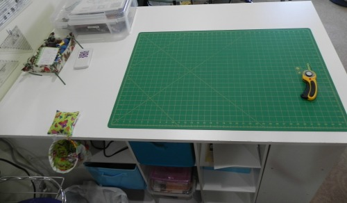 "Look at all that lovely surface space! That's a 36x24"" cutting mat."