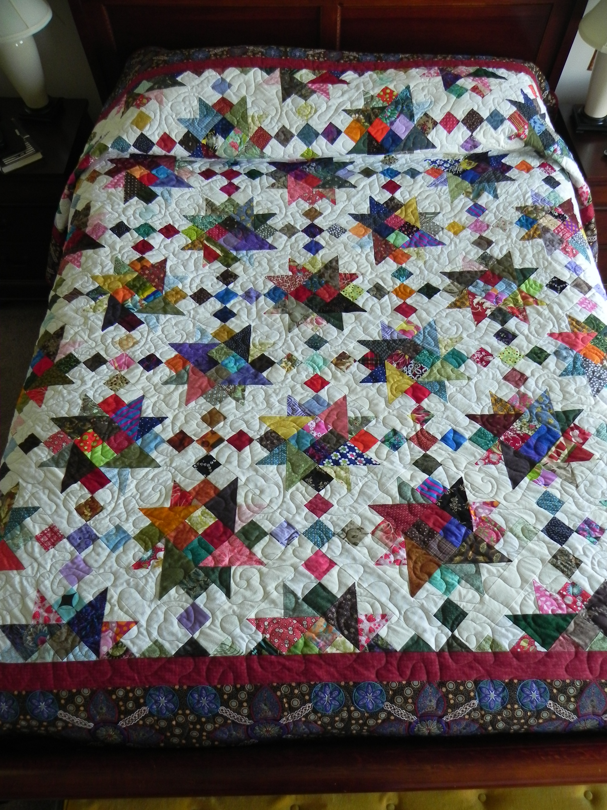 ScrapitBonzaTude--my version of Charlotte's 2013 Scrapitude mystery quilt.