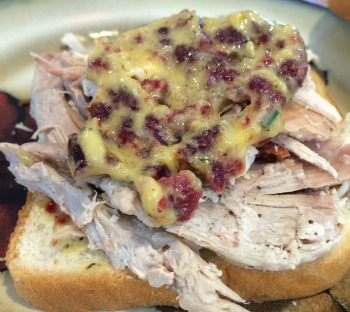Cranberry Rosemary mayo--tasted far better than it looks.