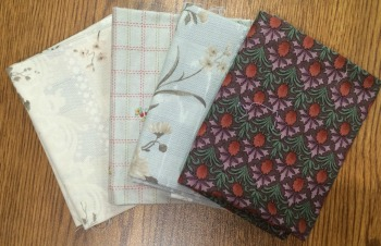 Maybe this set of soft, mostly taupe-y, somewhat William Morris-y, fat quarters will come home to live with you!