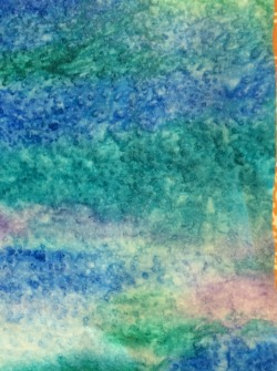 My painted fabric from several weeks ago, now washed and ready to use. It's the background for my May journal quilt.