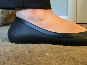 Getting advice from the #twilters about pants length (the verdict was, they're a keeper).  Crocs Lina Flat --how do I love them? Let me count the ways...