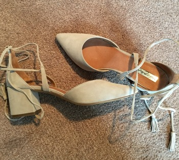 The Iris Lace-Up d'Orsay Pump by Halogen from my March Trunk Club. Well worth the money!