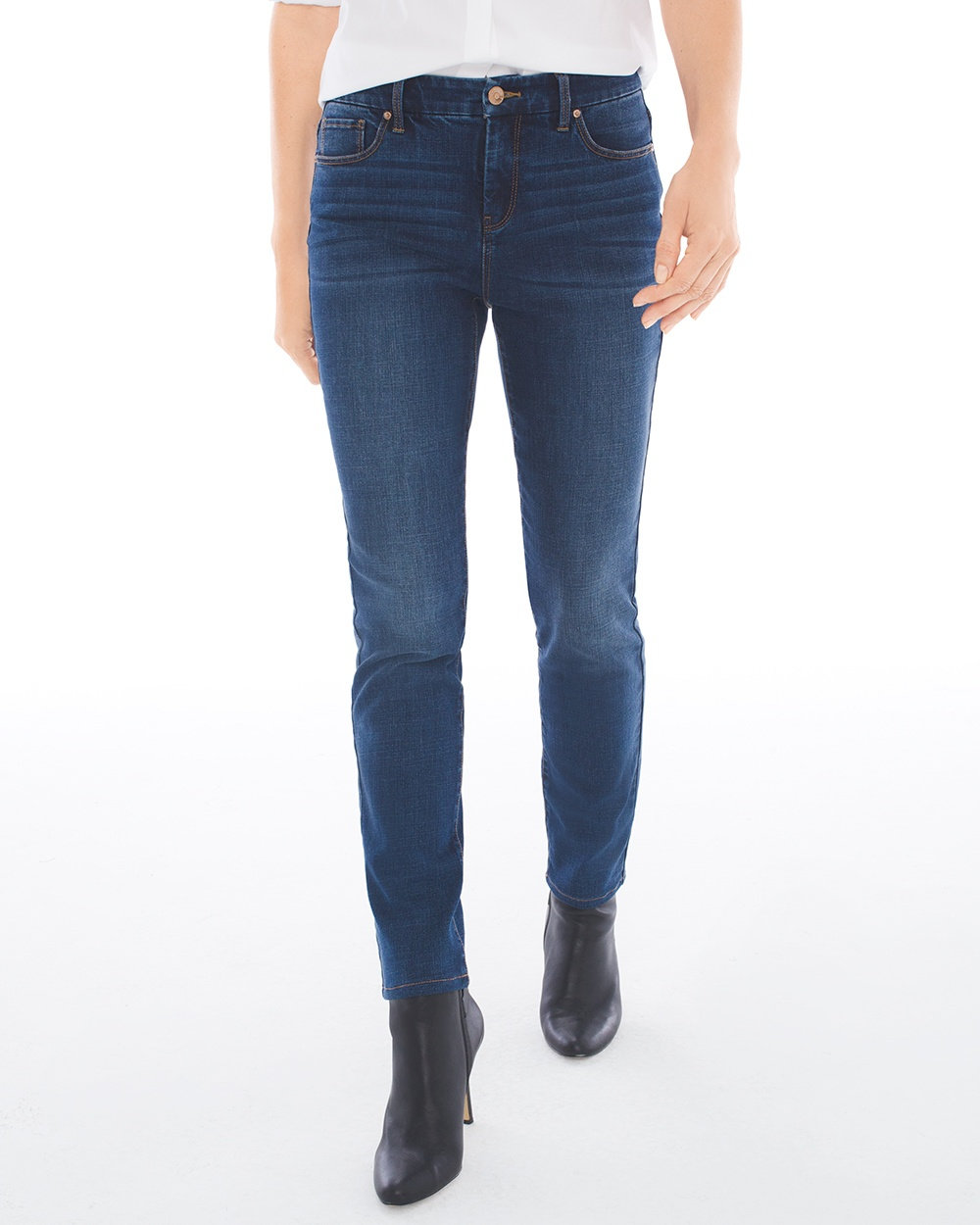 Chicos Girlfriend Ankle Jeans--love these!