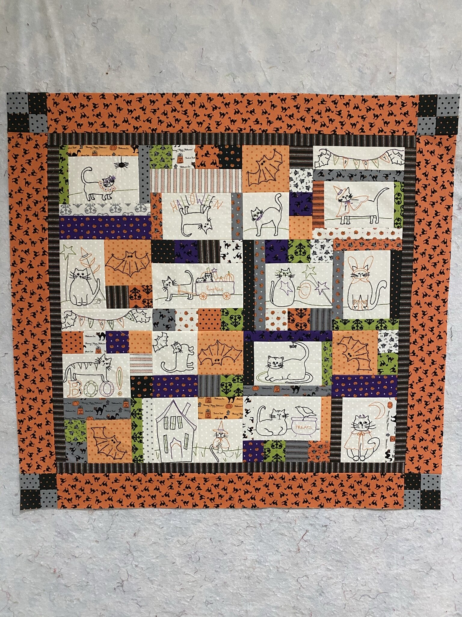 Quilt Kit Night Night Baby Boy//Pre Cut Ready to Sew//Finished Embroidery