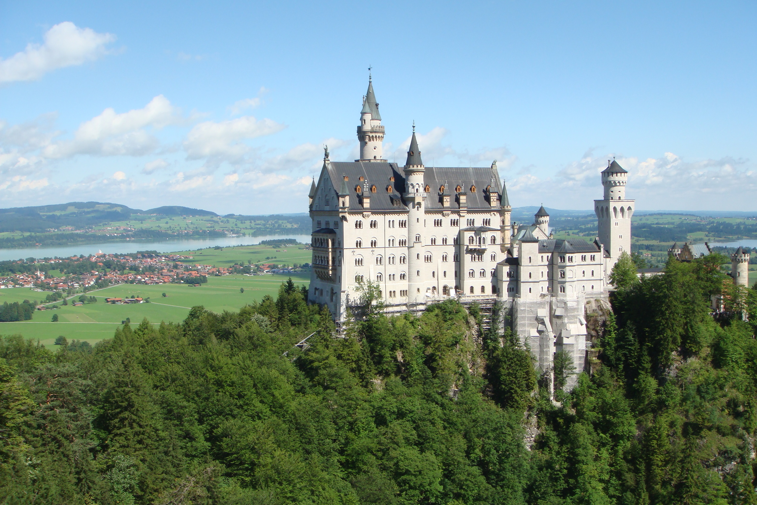Neuschwanstein is the fairytale castle of King Ludwig.