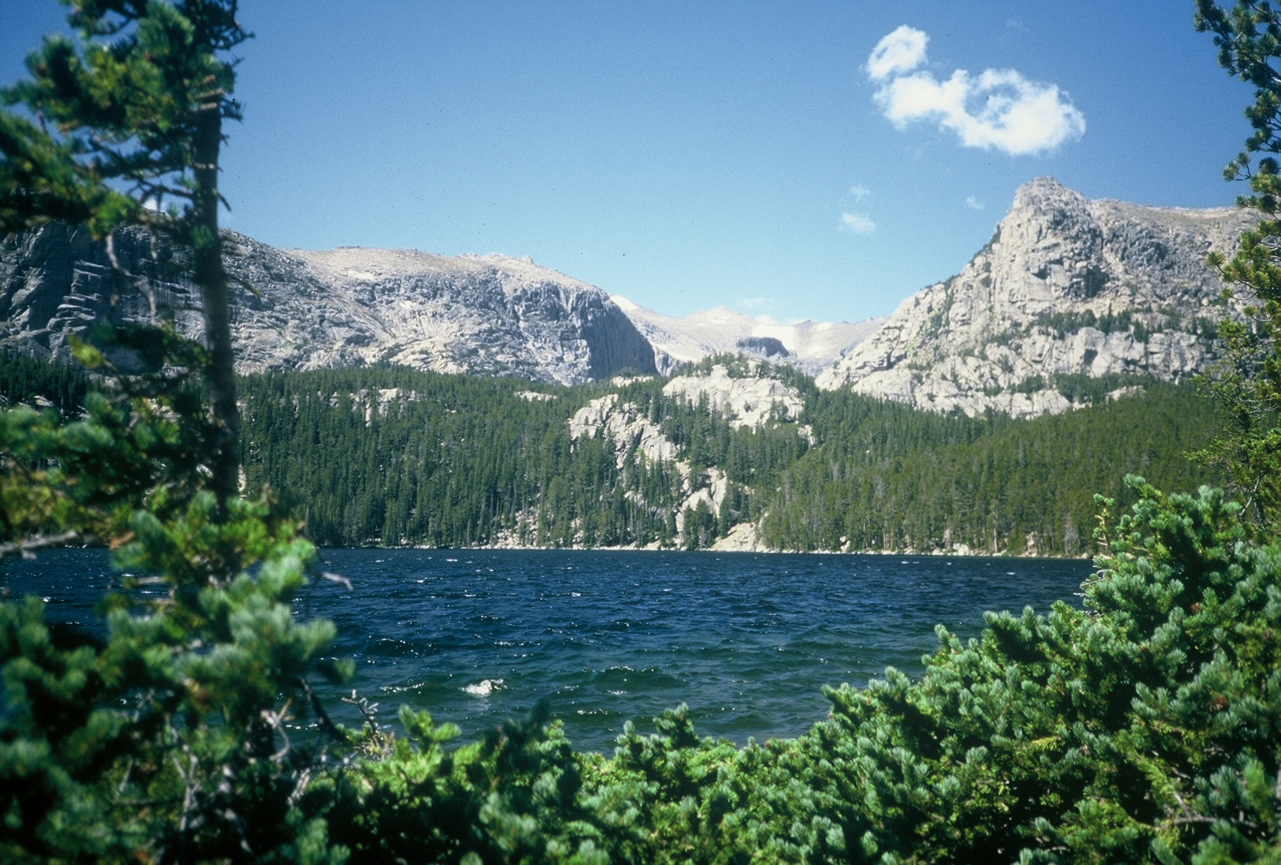 The shores along the lakes in the Popo Agie Wilderness make great campsites.
