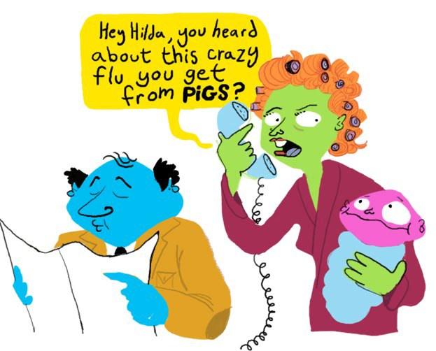 Concept art for Health Services campaign. Cintiq.
