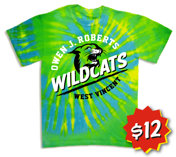 Tie Dye T-Shirts in Youth and Limited Adult Sizes