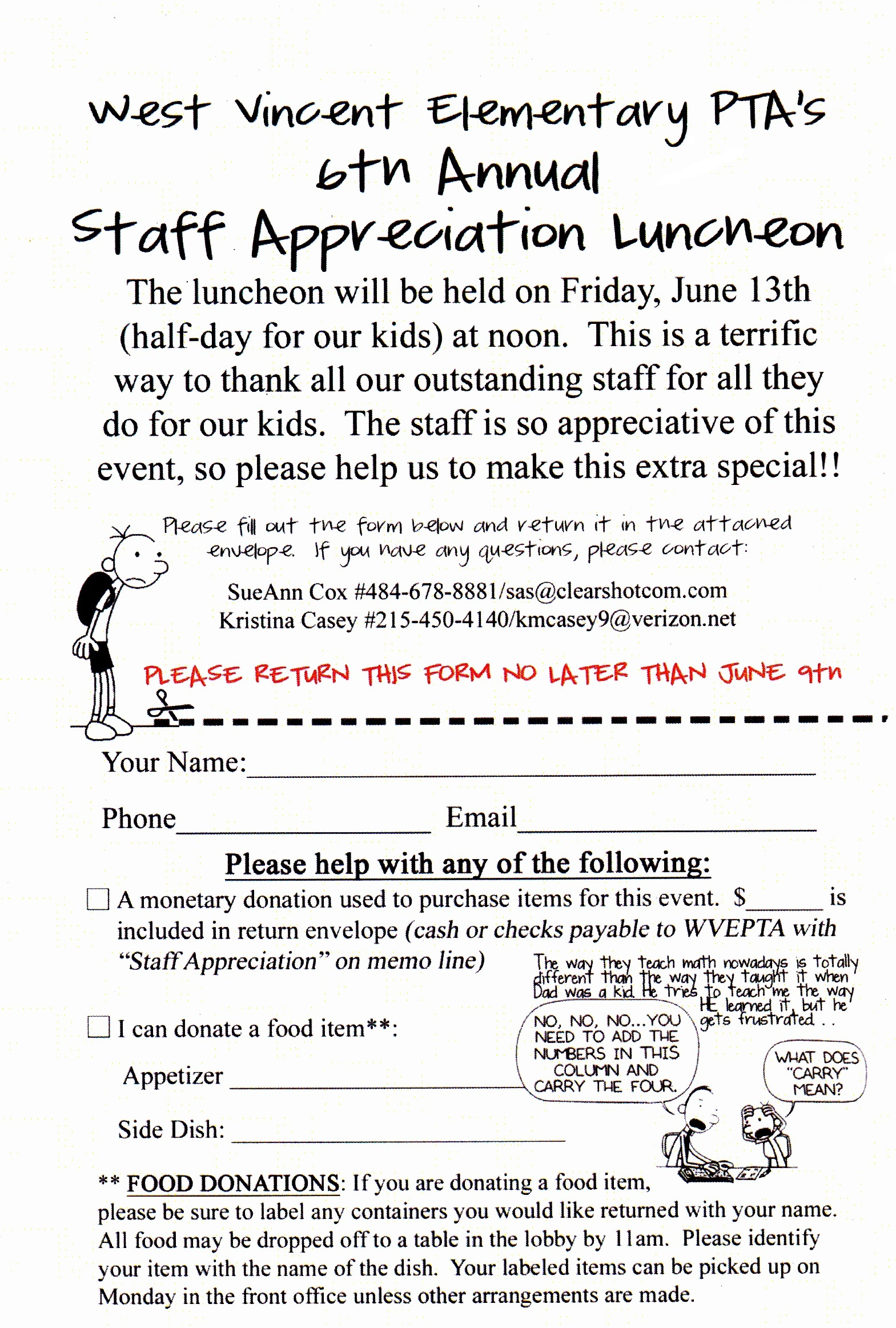 Click image to print and send in to school