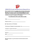 Teacher Reimbursement Form